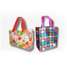 custom promotion non woven folded bags, purple non woven shopping bag, recycle foldable non woven shopping bag