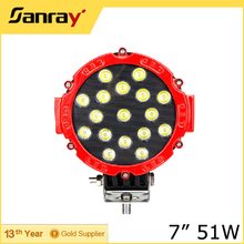 Factory Manufacture 7inch 51W LED Work Light Auto Exterior Lighting
