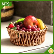 Cheap Vintage Wicker Handmade Fruit Basket