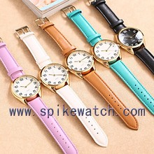 2015 high quality newest wholesale low MOQ PU leather strap China brands watch