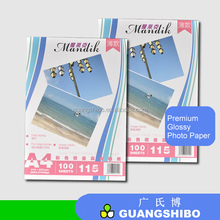 factory supply A4 115g high glossy photo paper