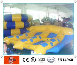 2016 hot sale inflatable water games flyfish banana boat for summer season
