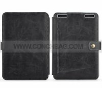 Crazy-horse imitation leather case for kindle touch with light