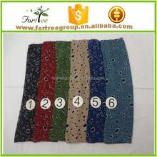 women long cotton autumn and winter viscose pashmina stole wrap cheap fabrics scarf