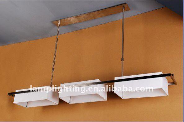 Nouveau design rectangulaire salle manger tissu lustre for Lustre pour salle a manger