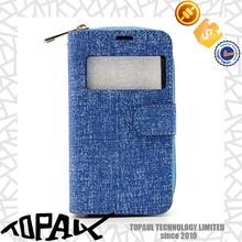 Mobile phone housing fashion flip phone case for girl with card-slot