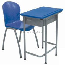 new design strong school single desk and chair ,student table and chair