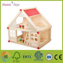 Wholesale Villa Model DIY Wooden Toy House
