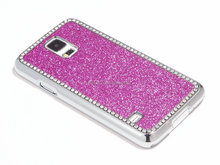 brand new case for samsung galaxy s5 bling bling chrome case cover pc hard case