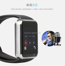 China Multi-language fun MP3/MP4/Bluetooth music playing Smart watch with memory 128M+64M (Support External TF Card max 32GB)