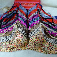 Sexy Lingerie Womens Favourable Seamless Thin Padded Elastic Leopard Print Support Plunge Vintage Glamour Super Boos Bra