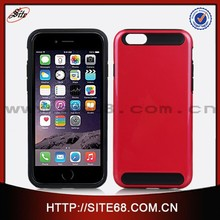 Wholesale protective 2 in 1 cellphone skin case for apple iphone 6