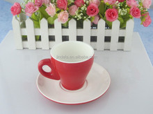 Porcelain espresso coffee cup set