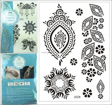 1PC Fashion special mark Waterproof Tattoo Black Henna Jewel Lace summer style j028
