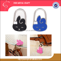 Gift Craft Cute Cartoon Rabbit with Flower Ear Foldable Metal Grocery Bag Holder