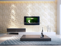 Natural eco-friendly plant fiber 3D wall panel for decoration