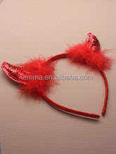 Wholesale Red Color Toys Of High Quality Party Supplies Devil Horns Headband H7311