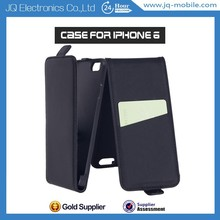 Alibaba China Supplier Mobile Flip Cover UP and Down Vertical Flip Phone Case Leather Case for iPhone 6