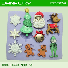 christmas fondant silicone mould for cake decoration/ chocolate silicone mould/ cak decorating tool