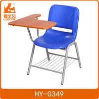 Lightweight cheap attached school desk and chair