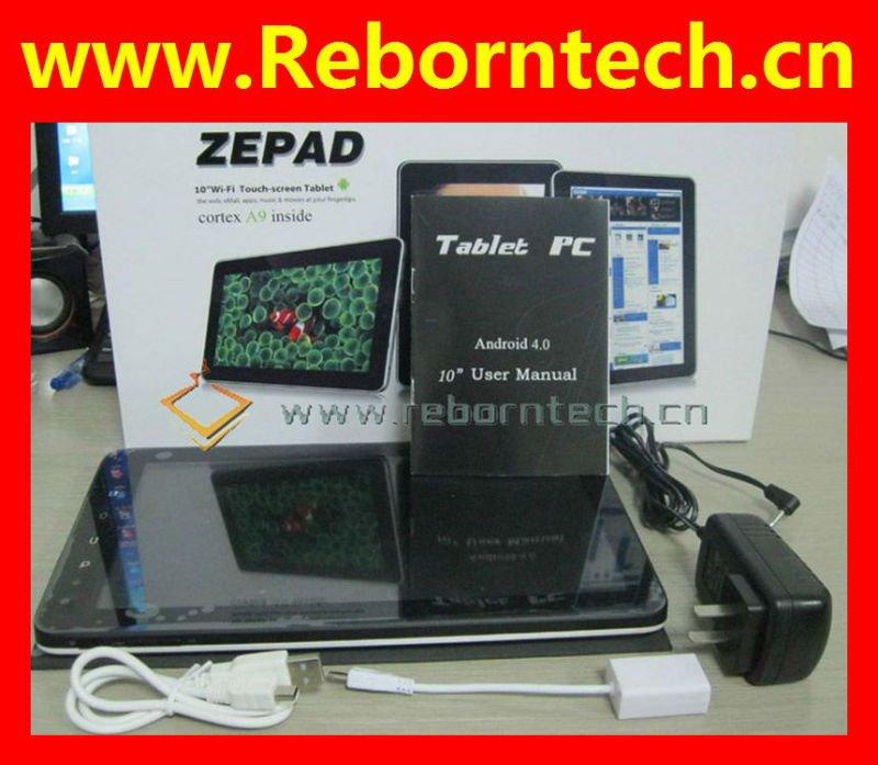 C91 Zenithink Zepad 10 pulgadas Android 4.0 ICS capacitivos de la tableta PC