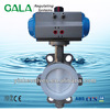 dn200 wafer butterfly valve with pneumatic actuator