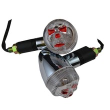 BJ-SL-019 12 V Aftermarket China Skull Face Motorcycle Turn Signal Lights Accessories for Dirt bike :XL125V / XR230 / APE50