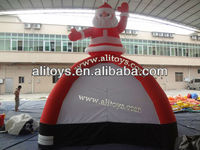christmas gift!santa claus tent inflatable/inflatable santa claus tent for sale