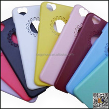 For iphone 6 plastic design case, cell phone case with heart shape camera for iphone 6