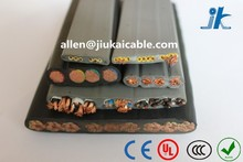 VDE Standard PVC insulation & sheath cold/fire resistant copper conductor lift cables Flat Traveling Wire/Cable for elevator