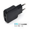 Sleek 5V 2.1A Tablet AC Adapter Dual USB Mobile Travel Charger