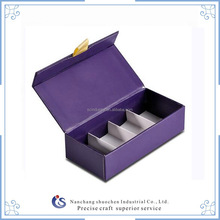 Matte Purple Mysterious Design Candle Magnetic Closure Gift Box