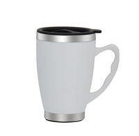 450ml stainless steel inner ceramic outer plain white coffee mugs ceramic blank coffee mugs wholesale fancy coffee cups and mugs