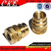 Precision Brass Knurling and Threading Lathe Parts