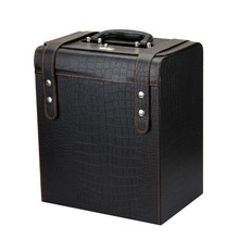 Zhejiang New Product Leather Wine Carrier With Handle Wine Box Packaging ( Box Wine ,Wine Packaging box,Leather wine box)