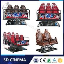 Hydraulic / Electric System 6/8/9/12 Seats 5D Cinema Simulator For Sale