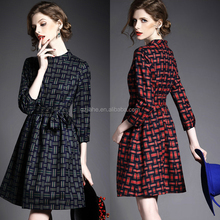 new sexy lady office formal autumn dresses, latest long sleeve winter woman high fashion dress design