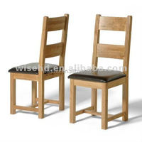 (W-C-538) solid oak wood dining chair with PU seat