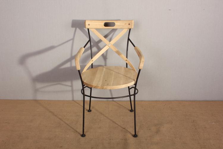 En bois fer forg chaise avec accoudoir chaises en m tal for Chaise en fer forge et bois
