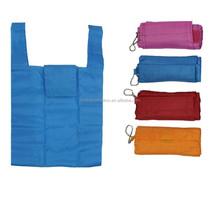 Fashion resuable eco-friendly nylon foldable shopping bag with logo