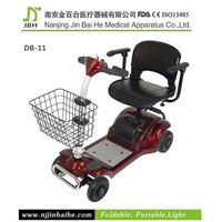 270W Folding disabled electric scooter with pedals
