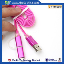micro usb cable de datos con enbedded luz led para cable de datos usb para teléfonos celulares