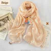 New style spring summer 100% silk head scarf,solid color scarf,malaysia head scarf