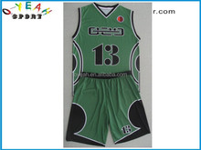 Custom sublimation professional club dry fit basketball wear/uniforms new design