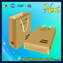 kraft paper box laminated packing bag handle reticule shopping bag