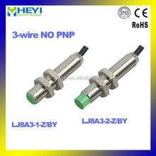 M8 analog inductive proximity sensor 3-wire NO PNP LJ8A3-1(2)-Z/BY 300mA M8*52mm