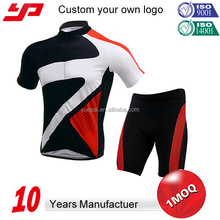 China manufacturer custom wholesale cycling team cheap sublimation printing specialized short sleeve men cycling jersey