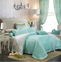 5 piece 1000 thread count queen size dobby 100% cotton bedding set