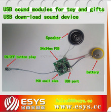 Electronic audio recording chip for toy and gifts