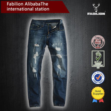 new designs washed holes jeans men